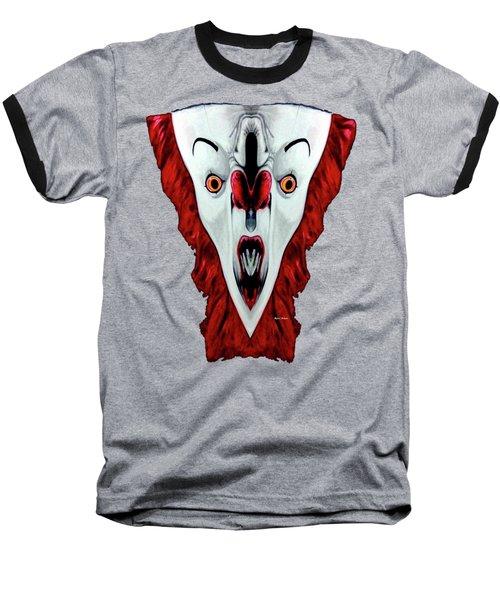 Creepy Clown 01215 Baseball T-Shirt by Rafael Salazar