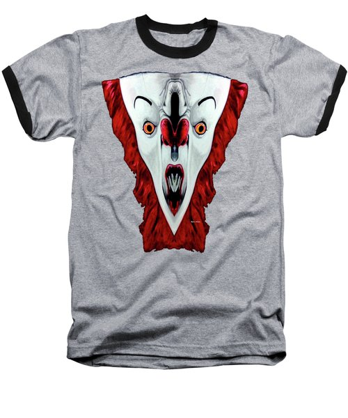 Creepy Clown 01215 Baseball T-Shirt