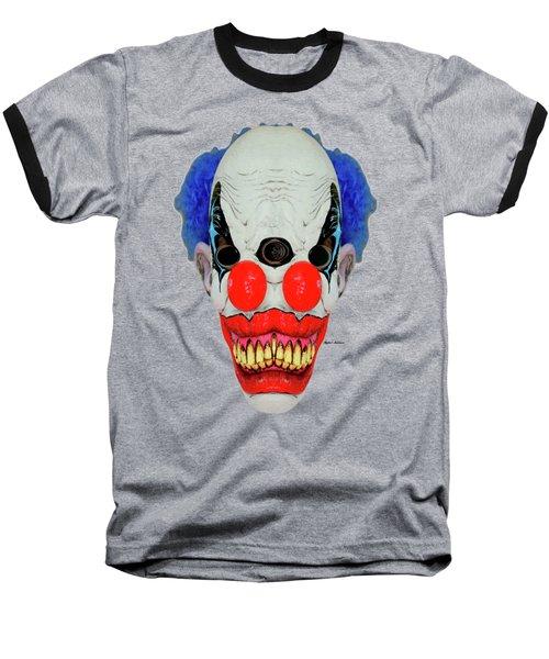 Creepy Clown Baseball T-Shirt by Rafael Salazar