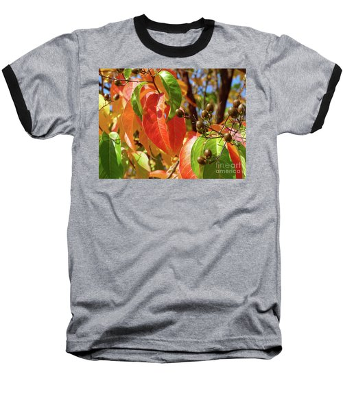 Crepe Myrtle Autumn Color Baseball T-Shirt