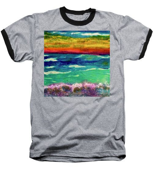 Crepe Paper Sunset Baseball T-Shirt