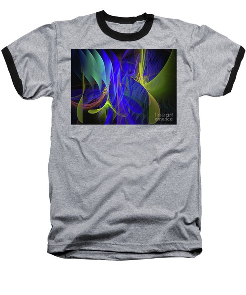 Baseball T-Shirt featuring the digital art Crescendo by Sipo Liimatainen