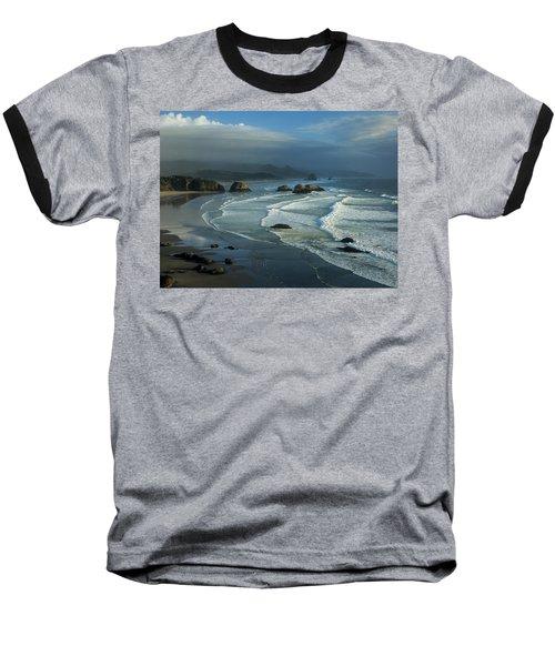Crescent Beach And Surf Baseball T-Shirt