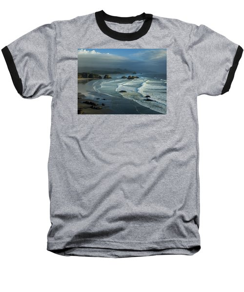 Crescent Beach And Surf Baseball T-Shirt