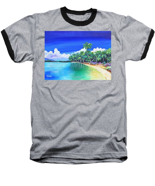 Crescent Beach Baseball T-Shirt by Patricia Piffath
