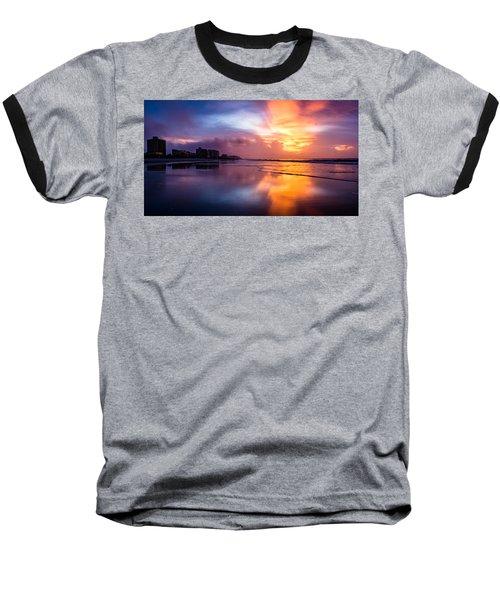 Crescent Beach Sunrise Baseball T-Shirt