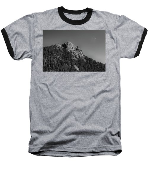 Baseball T-Shirt featuring the photograph Crescent Moon And Buffalo Rock by James BO Insogna