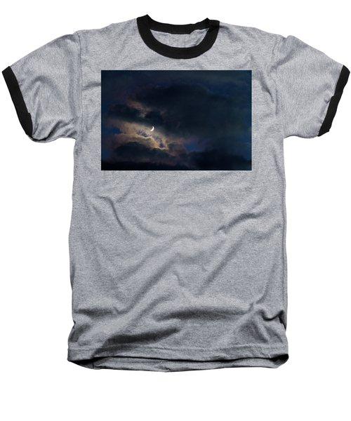 Crescent Moon In Hocking Hilla Baseball T-Shirt by Haren Images- Kriss Haren
