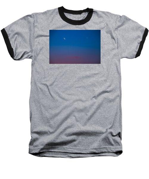 Crescent Moon Mercury And Venus Baseball T-Shirt