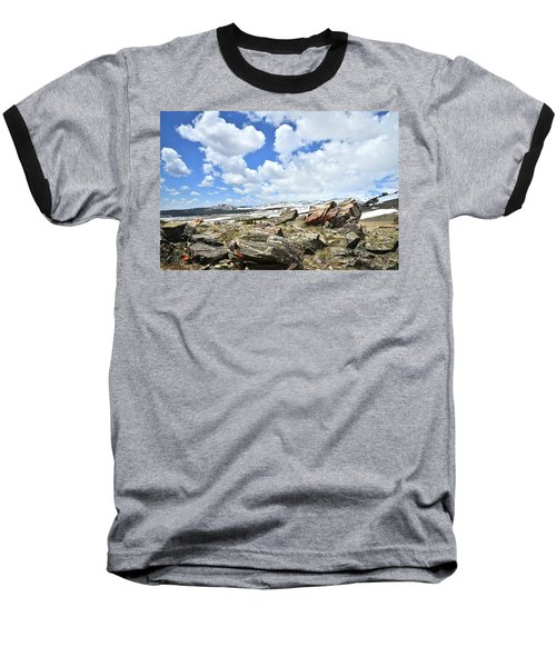 Crest Of Big Horn Pass In Wyoming Baseball T-Shirt