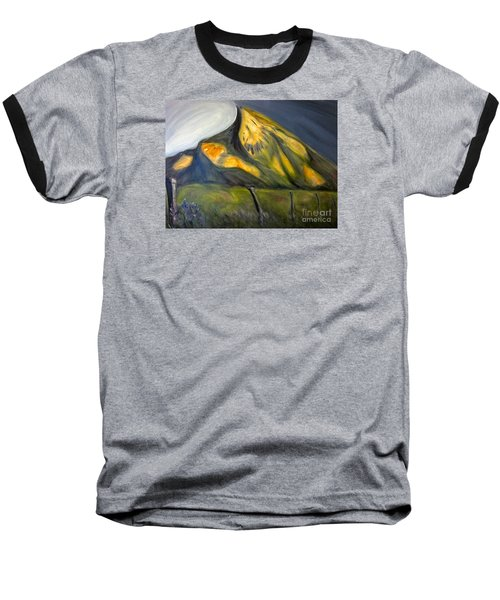 Crested Butte Mtn. Baseball T-Shirt by Kathryn Barry