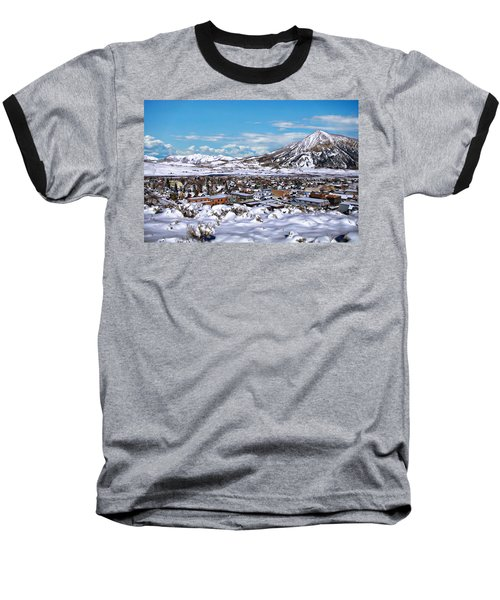 Crested Butte Panorama Baseball T-Shirt