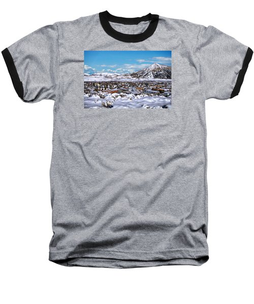 Crested Butte Panorama Baseball T-Shirt