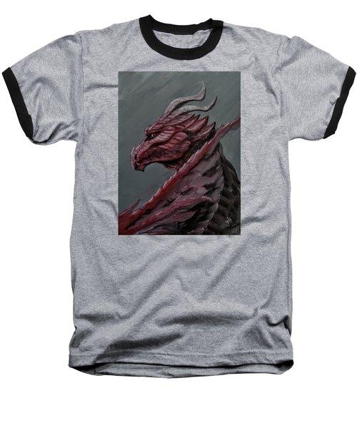 Baseball T-Shirt featuring the painting Crimson Dragon by Jennifer Hotai
