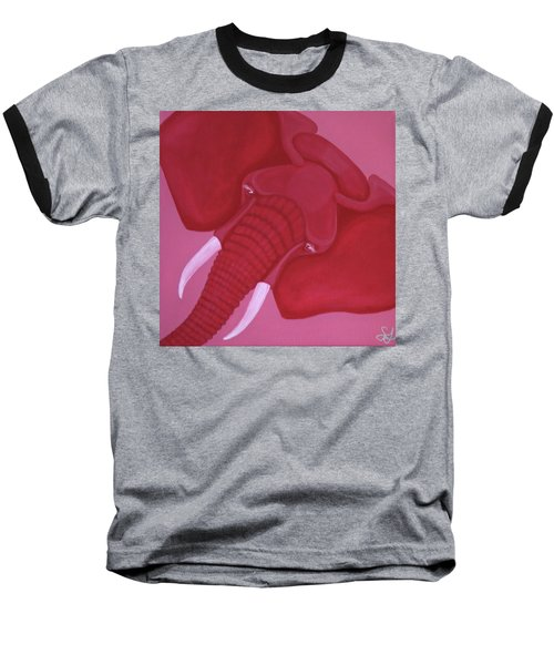 Crimson Elephant Baseball T-Shirt