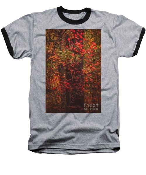 Crimson Fall Baseball T-Shirt