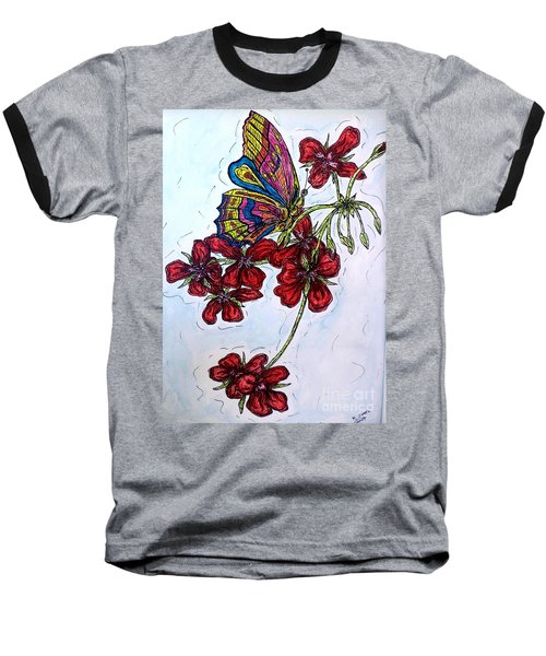 Crimson Fancy Baseball T-Shirt by Kim Jones