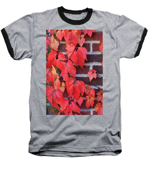 Crimson Leaves Baseball T-Shirt