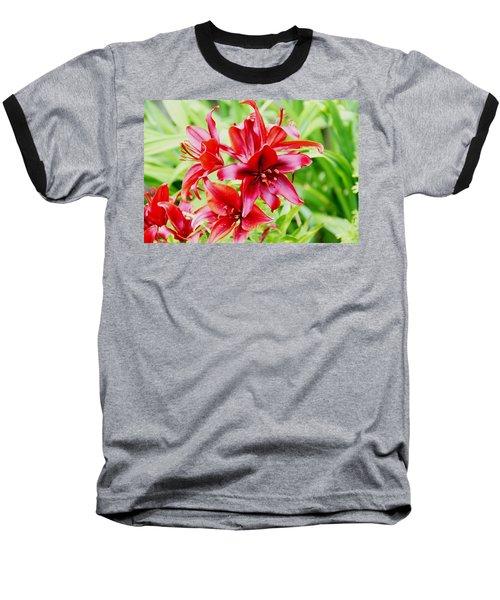 Crimson Lilies Baseball T-Shirt