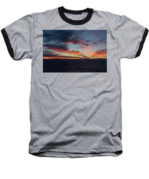 Crimson Morning Baseball T-Shirt