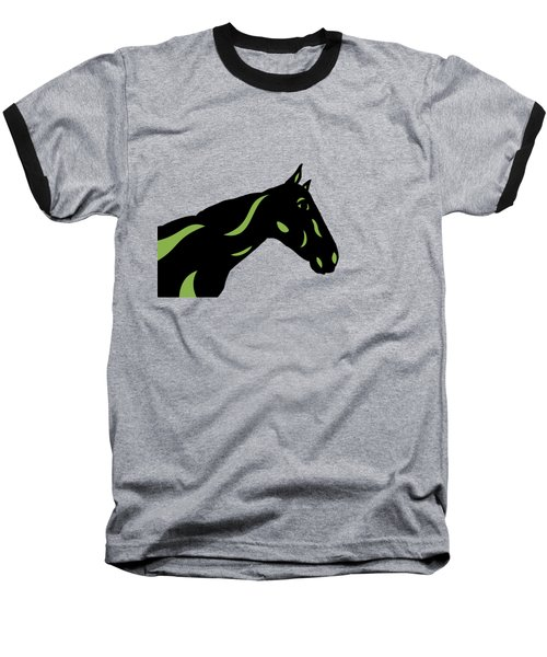 Crimson - Pop Art Horse - Black, Greenery, Purple Baseball T-Shirt