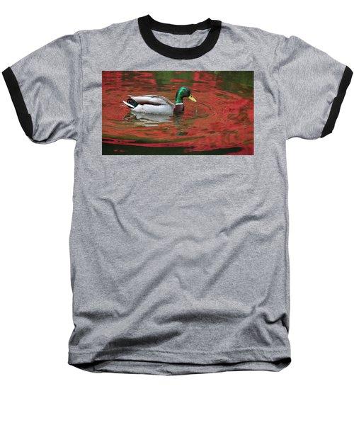 Baseball T-Shirt featuring the photograph Crimson Reflections by Elvira Butler