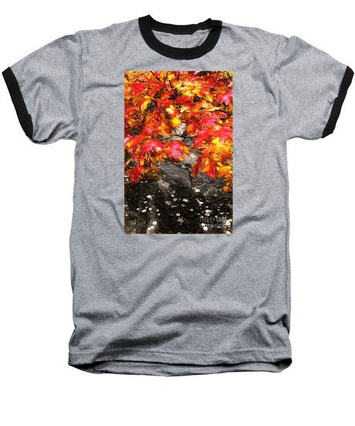 Crimson Splendor II Baseball T-Shirt by Dan Carmichael
