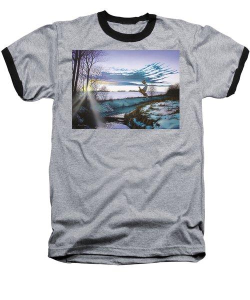 Crisp Winter Light Baseball T-Shirt