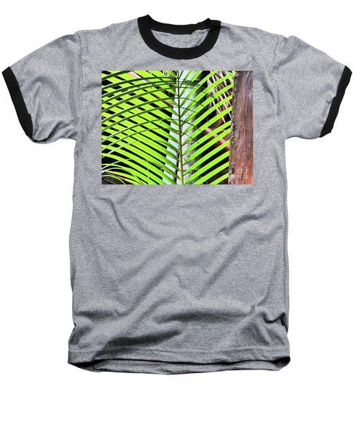 Crisscrossing Palms Baseball T-Shirt