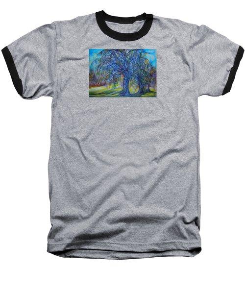Baseball T-Shirt featuring the drawing Crystal Light by Anna  Duyunova