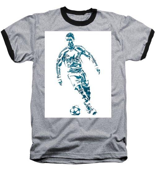 Cristiano Ronaldo Real Madrid Pixel Art 1 Baseball T-Shirt