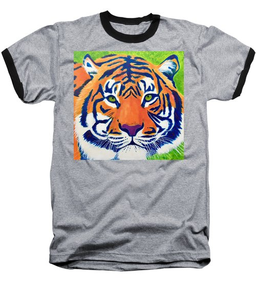 Critically Endangered Sumatran Tiger Baseball T-Shirt