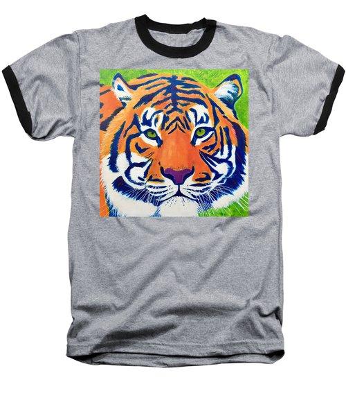 Critically Endangered Sumatran Tiger Baseball T-Shirt