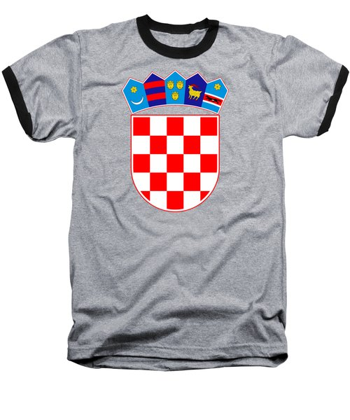 Croatia Coat Of Arms Baseball T-Shirt by Movie Poster Prints