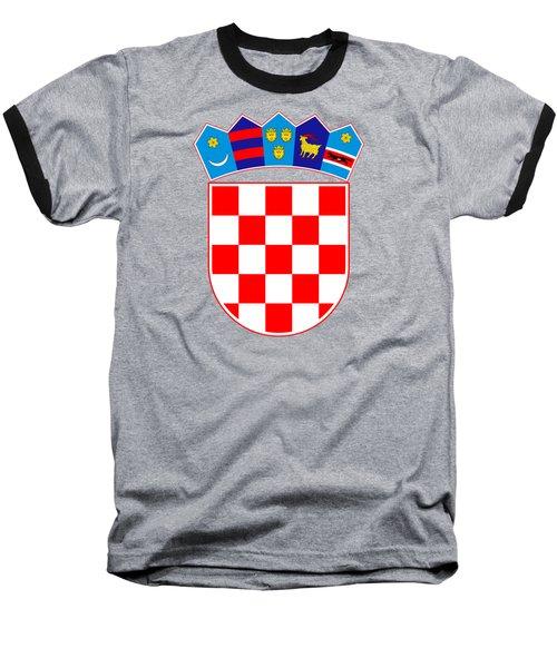 Croatia Coat Of Arms Baseball T-Shirt by Movie Poster Prints