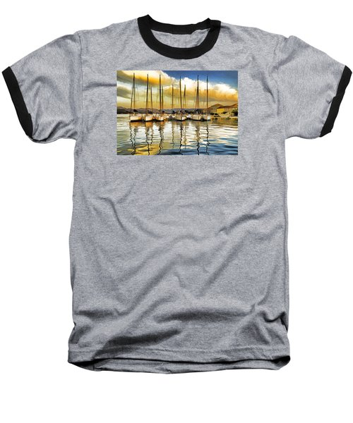 Baseball T-Shirt featuring the photograph Croatia Marina by Dennis Cox WorldViews