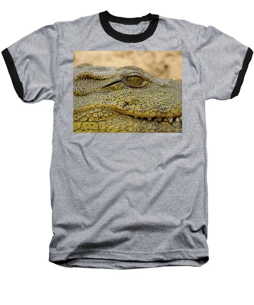 Baseball T-Shirt featuring the photograph Croc by Betty-Anne McDonald