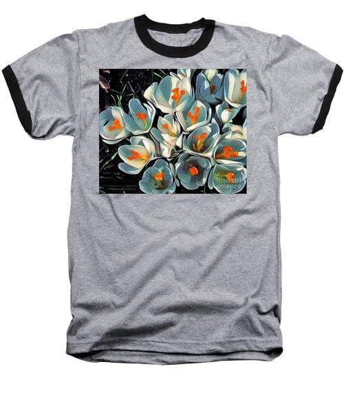 Crocus In The Shadows Baseball T-Shirt