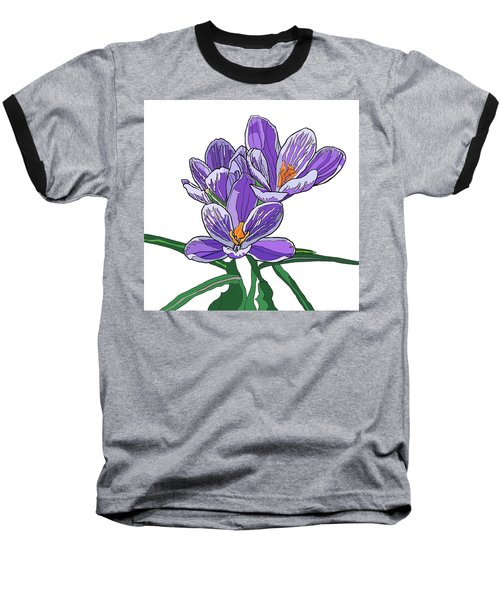 Crocus Baseball T-Shirt by Jamie Downs