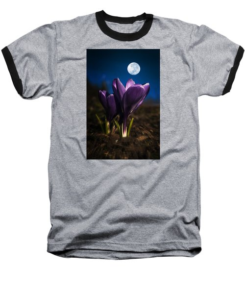 Crocus Moon Baseball T-Shirt