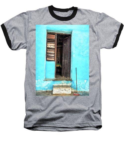 Crooked Blue Baseball T-Shirt