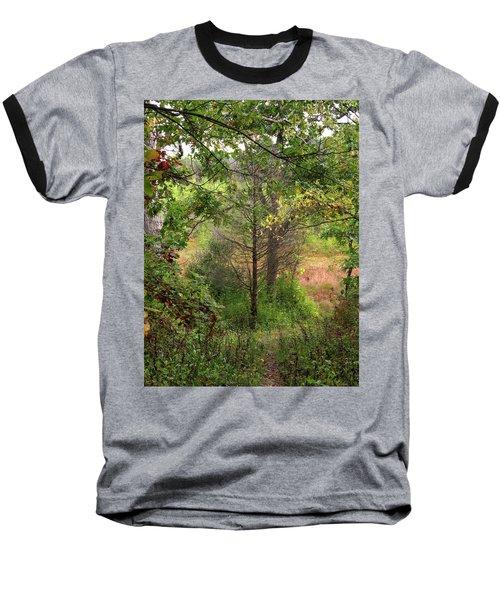 Crooked Creek Woods Baseball T-Shirt by Kimberly Mackowski