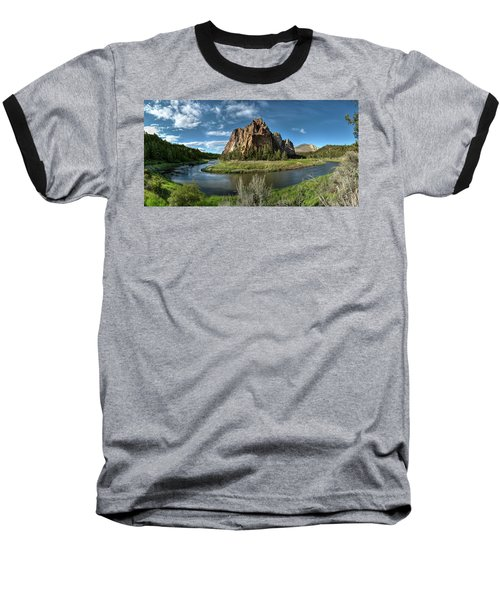 Crooked River And Smith Rock Baseball T-Shirt