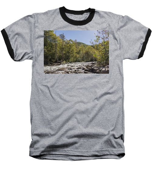 Crooked Tree Curve Baseball T-Shirt by Ricky Dean