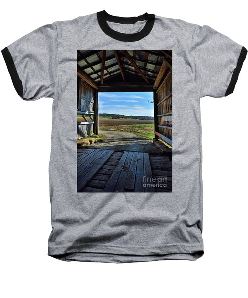 Crooks Covered Bridge 2 Baseball T-Shirt