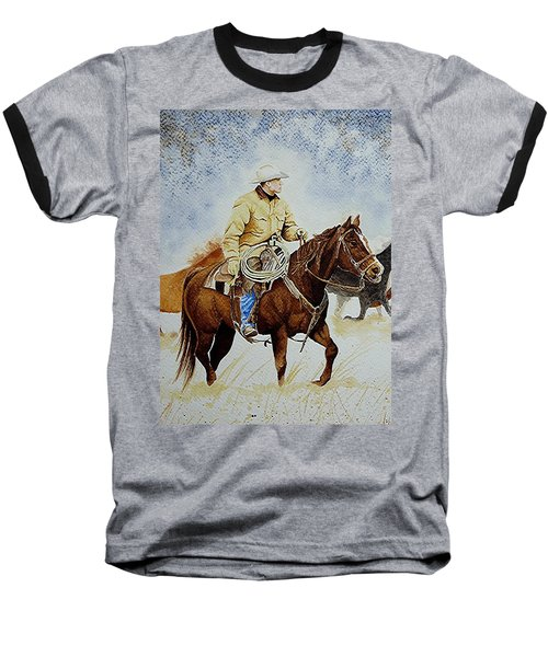 Cropped Ranch Rider Baseball T-Shirt