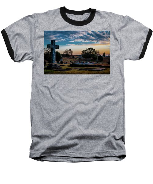 Cross At Sunset Baseball T-Shirt