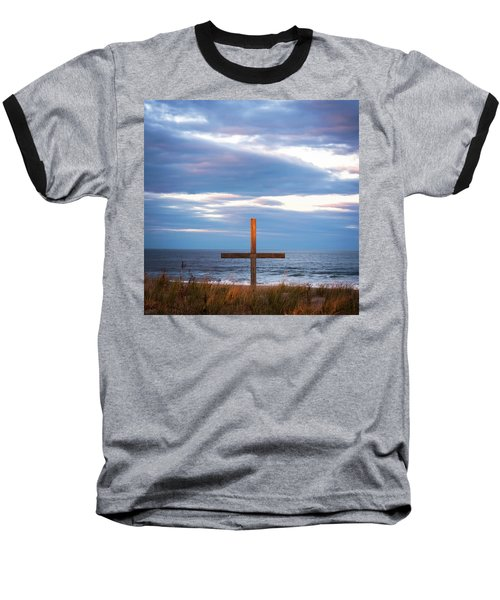 Baseball T-Shirt featuring the photograph Cross Light Square by Terry DeLuco