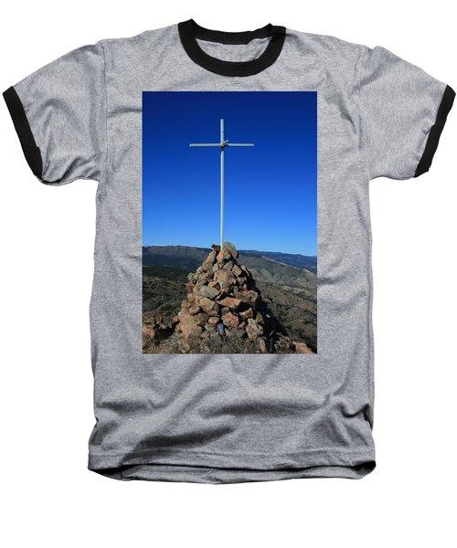 Cross On Fremont Peak Baseball T-Shirt