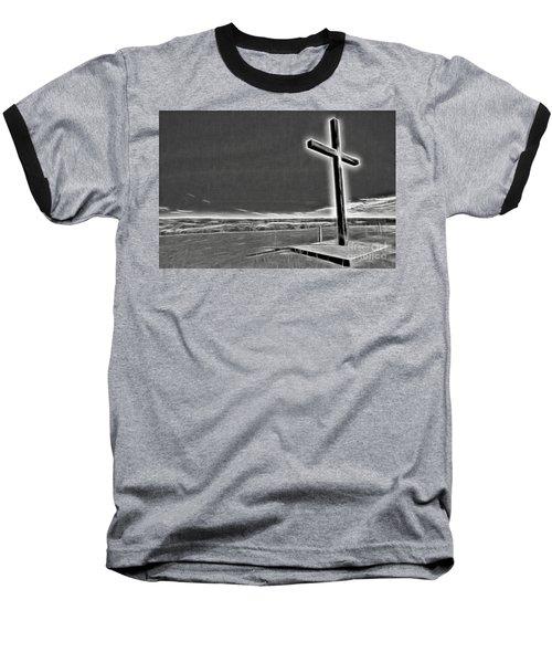 Baseball T-Shirt featuring the photograph Cross On The Hill V2 by Douglas Barnard